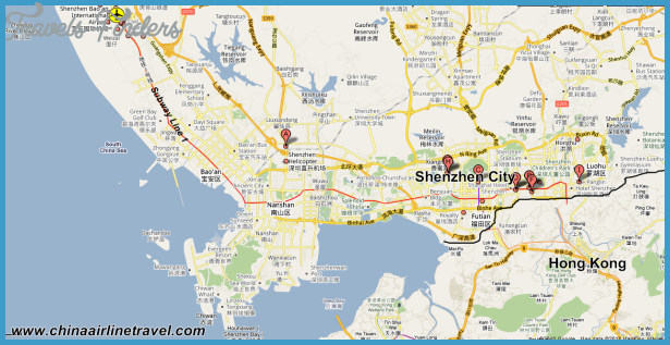 Shenzhen map of china travelsfinders shenzhen map of china4g gumiabroncs Image collections