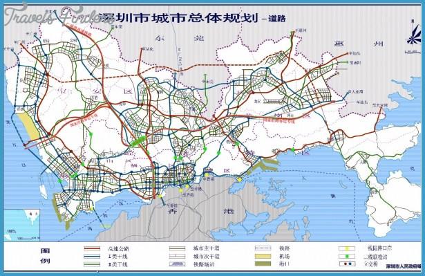 SHENZHEN MAP OF CHINA TravelsFindersCom