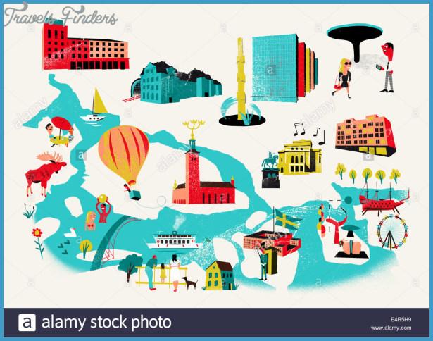 Stockholm Map Travelsfinders Com