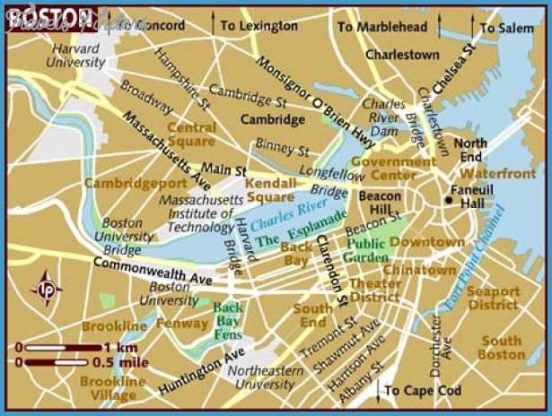 THEATER OF BOSTON US Map Phone Address TravelsFindersCom - Boston on us map