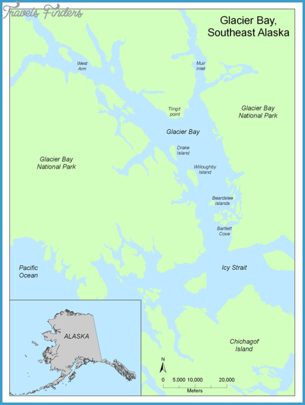 Glacier Bay Map  Travel  Map  Vacations