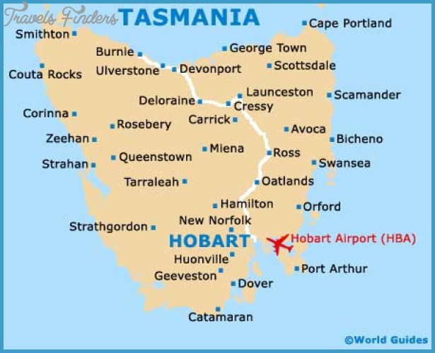 Hobart Map Tourist Attractions TravelsFindersCom