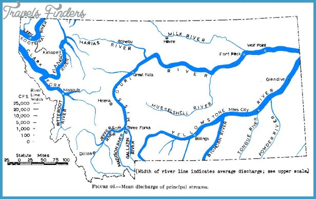 MAP OF MONTANA RIVERS  Travel  Map  Vacations