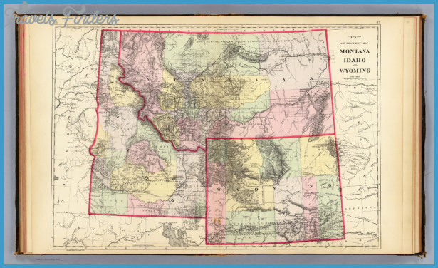 MAP OF MONTANA WYOMING  Travel  Map  Vacations
