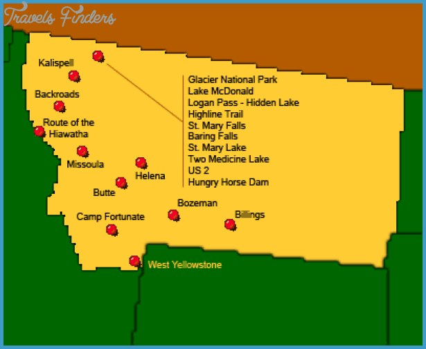 Montana Map Tourist Attractions Travel Map Vacations - Montana map us
