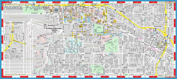 Las Vegas Map For Tourist  Travel  Map  Vacations
