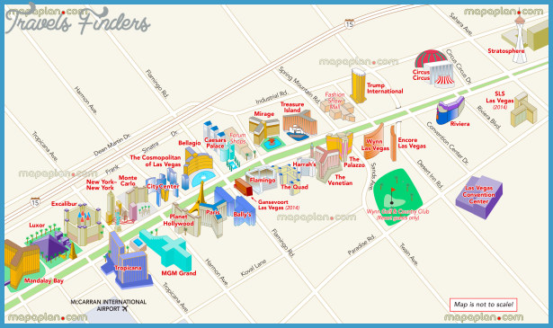 Las Vegas Map For Tourist TravelsFindersCom