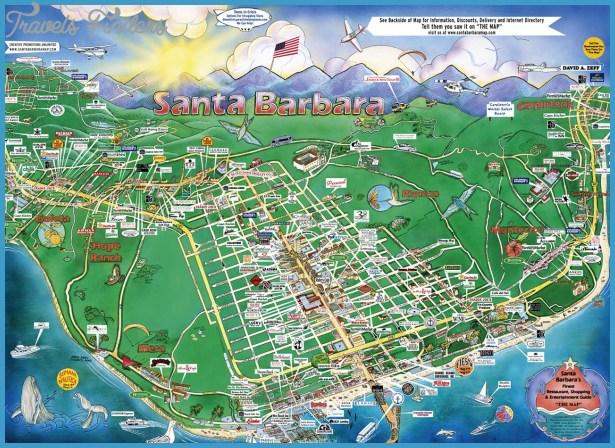 santa barbara map travel map vacations travelsfinders