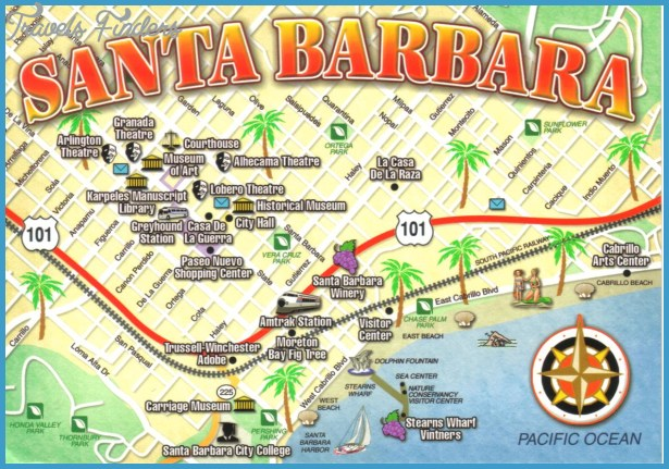 Map Of California Cities Santa Barbara