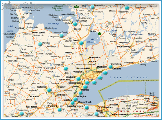 Where Is Oakville Ontario Canada Map Oakville Ontario Map   TravelsFinders.®