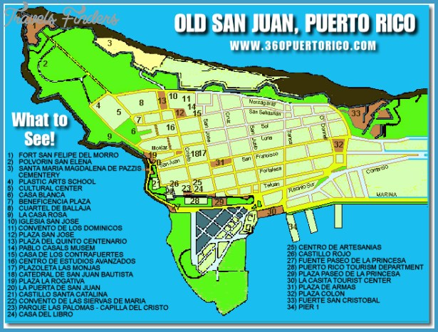 Old San Juan Map - TravelsFinders.Com ®