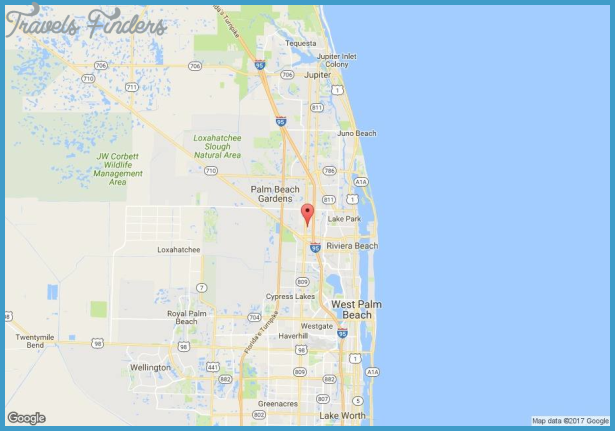 Palm Beach Gardens Florida Map Travel Map Vacations