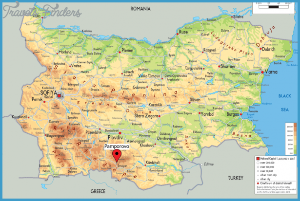 pamporovo map bulgaria   travelsfinders com