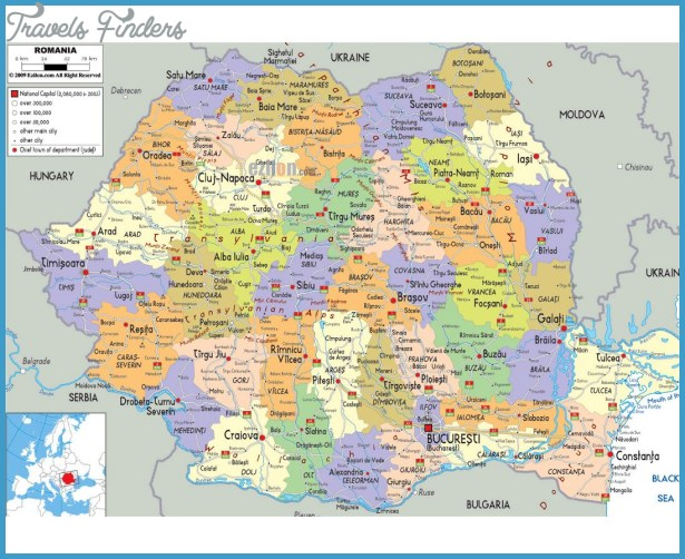 Romania Map Airports | TravelsFinders.Com ®