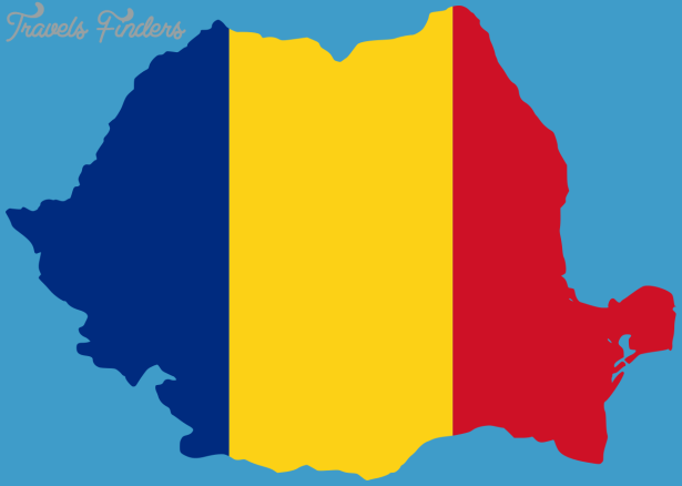 Romania Map And Flag TravelsFindersCom
