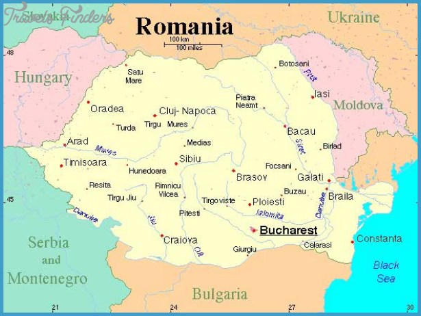 Romania map of the world travelsfinders romania map of the world9g gumiabroncs Images