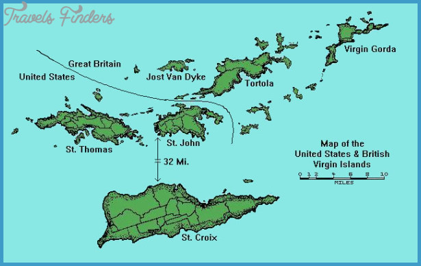 The U.S. Virgin Islands Map - TravelsFinders.Com ®