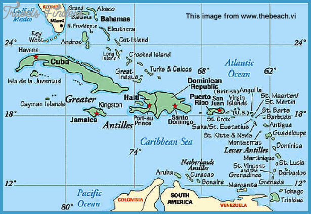 photo gallery of the us virgin islands map
