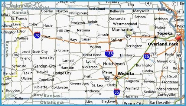 Google Maps Kansas - TravelsFinders.Com ®