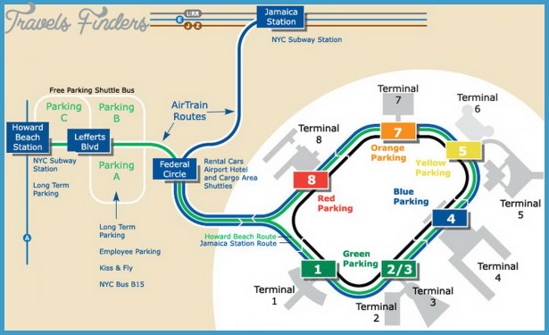 Kansas City Airport Map Kansas City Airport Map   TravelsFinders.®