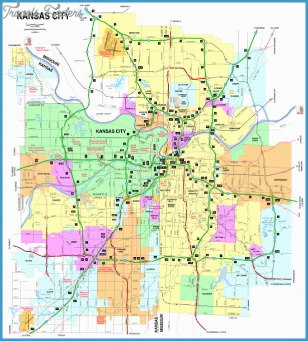 Kansas Road Map Travel Map Vacations TravelsFindersCom - Kansas road map