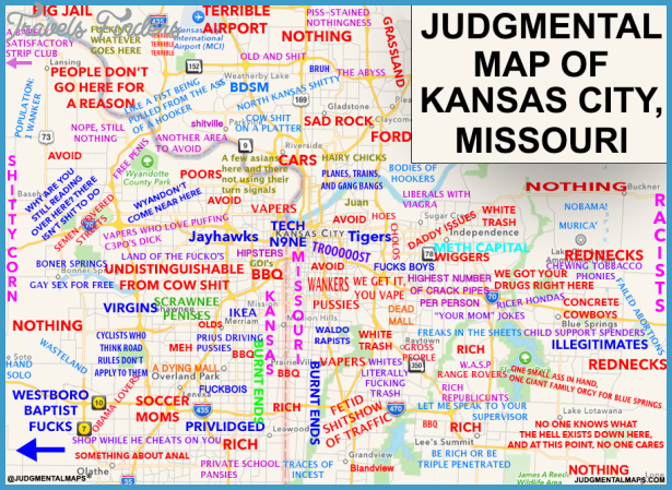 Kansas Map With Cities Travel Map Vacations TravelsFindersCom - Map of cities in missouri