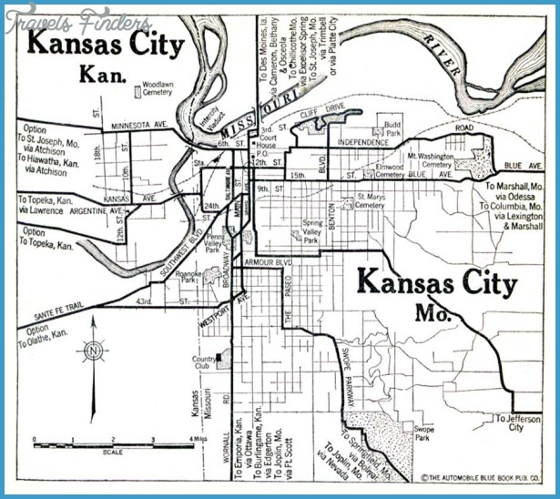 Kansas Map With Cities Travel Map Vacations TravelsFindersCom - Map of kansas cities