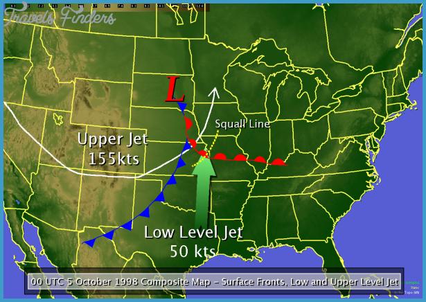 Weather Map Kansas Kansas Weather Map   TravelsFinders.®