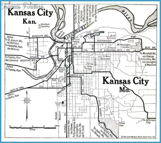 Map Of Kansas City Travel Map Vacations TravelsFindersCom - Map of kansas city