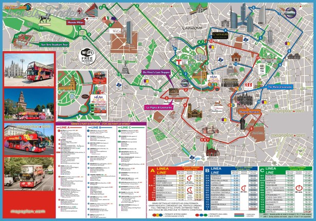 Milan Travel Map TravelsFindersCom