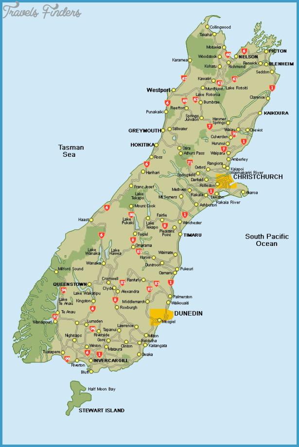 Map Of Queenstown New Zealand - TravelsFinders.Com ® Queenstown New Zealand Map on