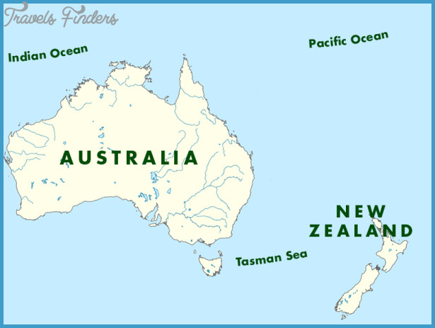 Australia New Zealand Map.Australia New Zealand Map Travelsfinders Com