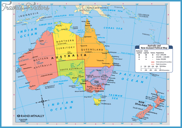 New Zealand Australia Map.New Zealand Map Australia Travelsfinders Com