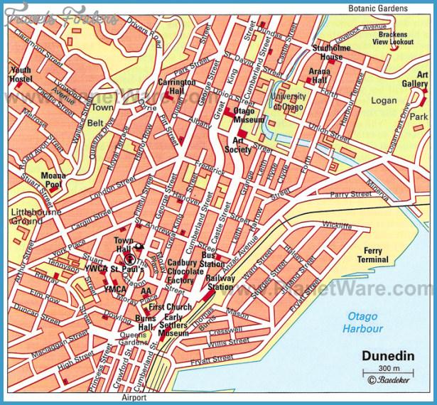 Map Of Dunedin New Zealand.Dunedin New Zealand Map Travelsfinders Com