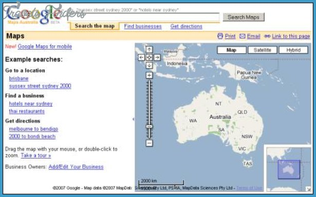 Google Map New Zealand - TravelsFinders.Com ®