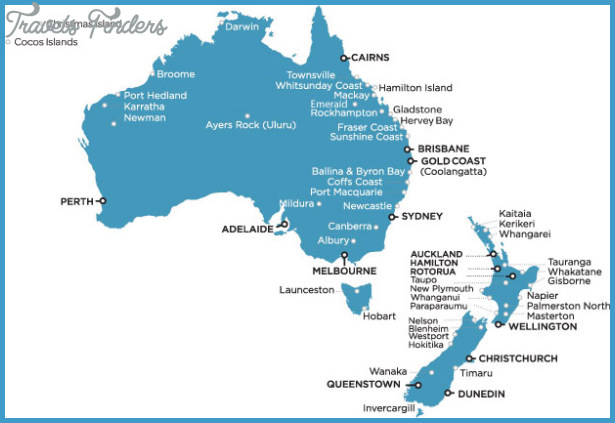 Australia To New Zealand Map.Australia New Zealand Map Travelsfinders Com