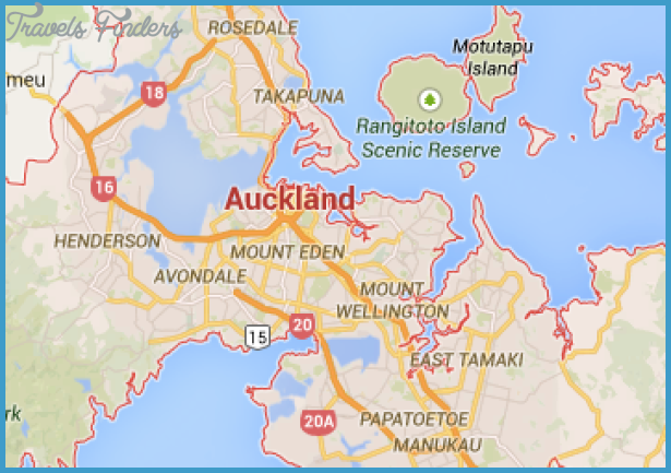 Map Of Auckland New Zealand - TravelsFinders.Com ®