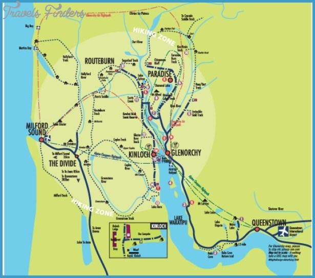 Map Of New Zealand Queenstown.Map Of Queenstown New Zealand Travelsfinders Com