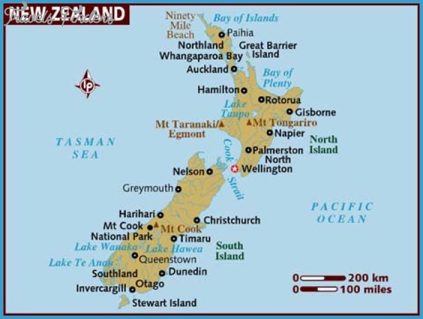 New Zealand Cities Map.Map Of New Zealand With Cities Travelsfinders Com
