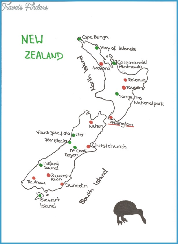 picture relating to New Zealand Map Printable named Printable Map Of Fresh new Zealand - TravelsFinders.Com ®