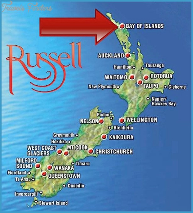 Taupo New Zealand Map.Bay Of Islands New Zealand Map Travelsfinders Com