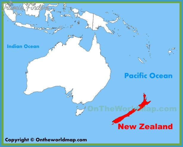 Where Is New Zealand On A Map Travelsfinders Com