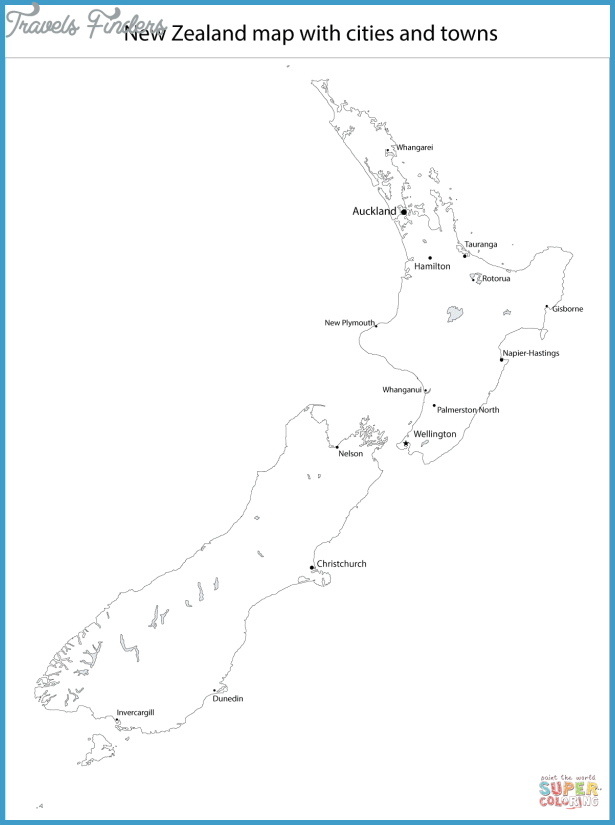 Map Of New Zealand Cities TravelsFindersCom