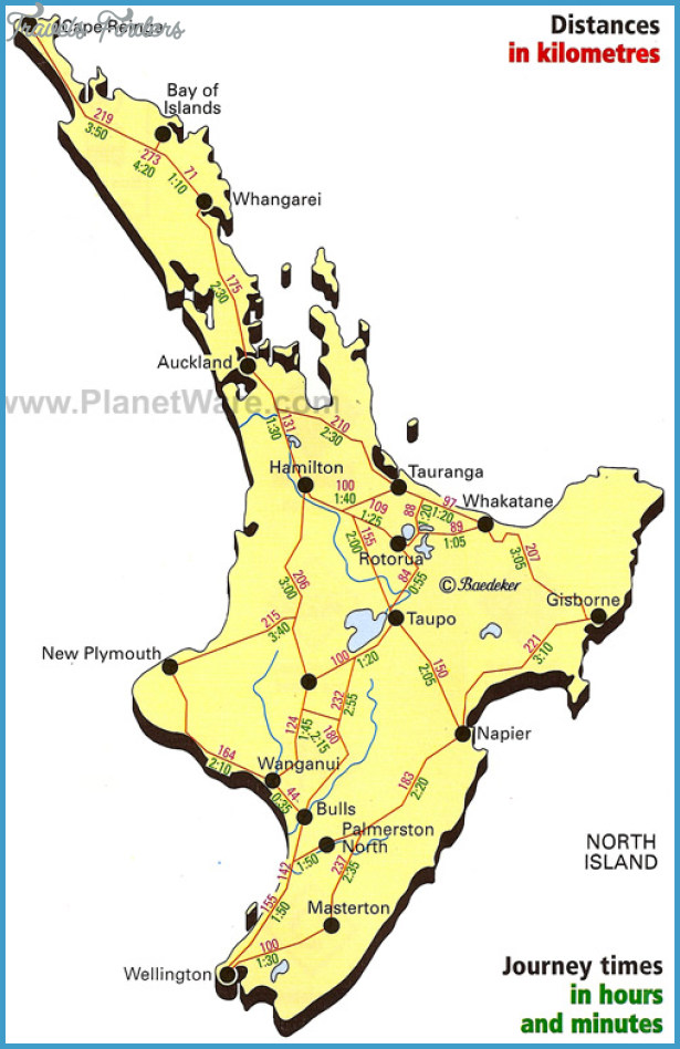 New Zealand Tourist Map North Island.New Zealand Tourist Map Travelsfinders Com