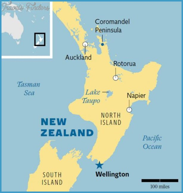 Capital Of New Zealand Map - TravelsFinders.Com ® on