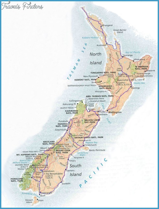Cities In New Zealand Map.Map Of New Zealand Cities Travelsfinders Com