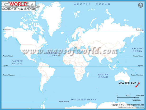 Where Is New Zealand Located On A Map TravelsFindersCom