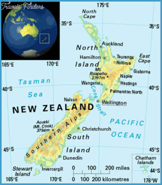 Where Is New Zealand Located On A Map TravelsFindersCom - Where is new zealand located