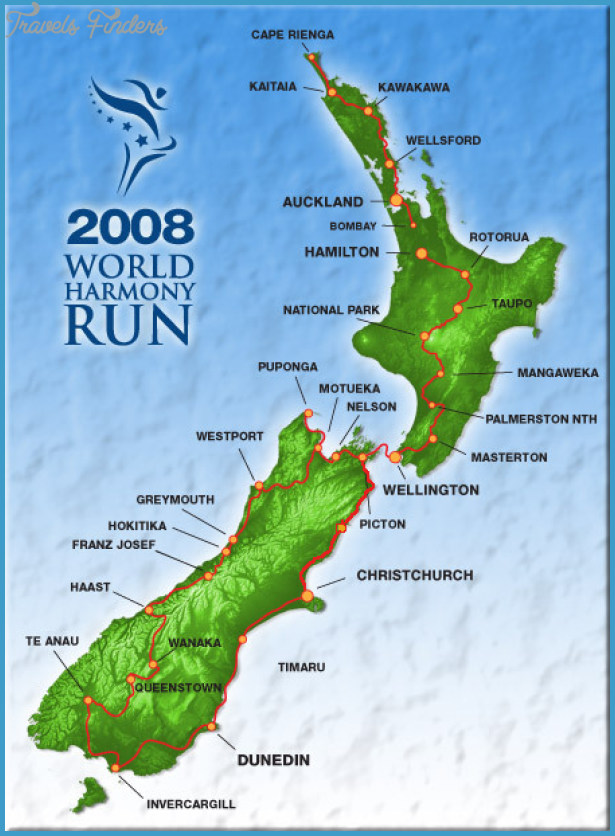 New Zealand Map Google.Google Map New Zealand Travelsfinders Com