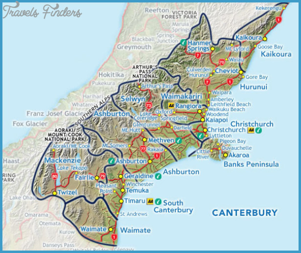 Map Of Christchurch New Zealand on